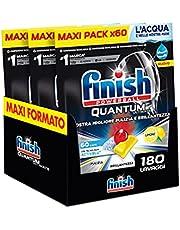 Finish, Quantum Ultimate, 180 vaatwassertabs, 3 verpakkingen met 60 tabletten, citroen - 2520 g