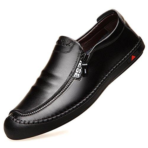 Feidaeu Hombre Sintético Negro Zapatos De 6fwrF6