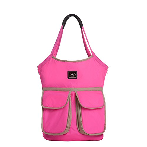 7AM Enfant Barcelona Diaper Bag, Neon Pink Mom Baby Ultrasoft Onesie