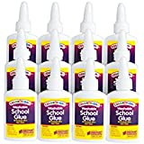 Colorations Washable School Glue, 1.25 oz. - Set of 12 (Item # SCWGSET)