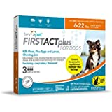 TevraPet FirstAct Plus Flea and Tick Topical for Dogs 6-22 Pounds, 3 Count