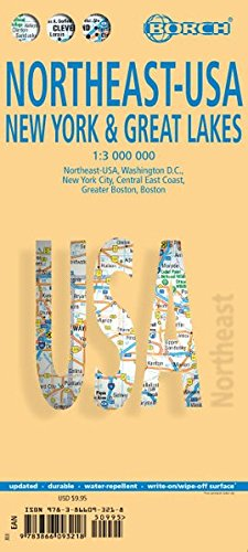 Read Laminated New York & Great Lakes Map by Borch (English Edition) [D.O.C]