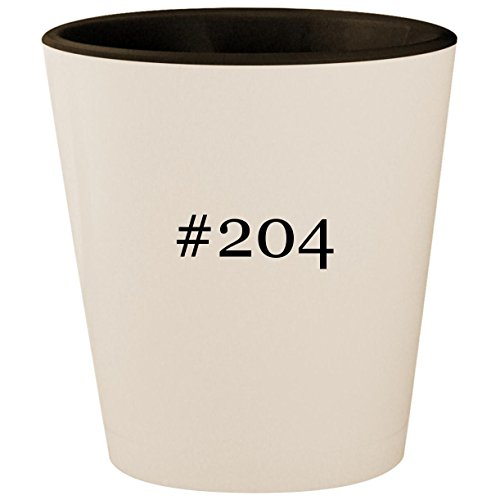 (#204 - Hashtag White Outer & Black Inner Ceramic 1.5oz Shot Glass)
