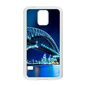 Bridge Night Samsung Galaxy S5 Case, Funny Design Case Samsung Galaxy S5 Case Luxury Evekiss {White}