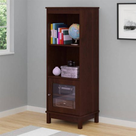 Media Storage Bookcase, Resort Cherry