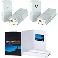 2-Pack of NETGEAR Powerline 1200 + Extra Outlet (PLP1200-100PAS) & 1 $10 Amazon.com Gift Card Bundle