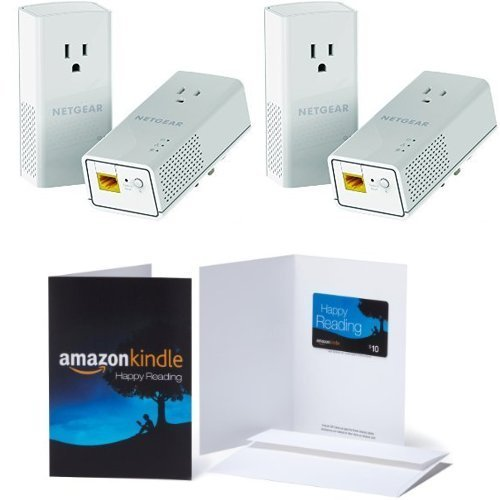 2-Pack of NETGEAR Powerline 1200 + Extra Outlet  & 1 $10 Ama