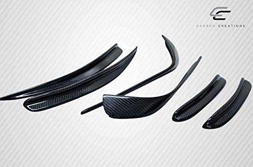 Carbon Creations Replacement for 2014-2015 Mercedes CLA Class Black Series Look Wide Body Front Bumper Accessories - 6 Piece by Carbon Creations (Image #4)