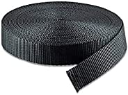 RETON 10 Yards Black Nylon Heavy Polypro Webbing Strap (15/20/25/32/38/50MM)