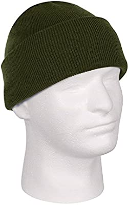 adf05268 Amazon.com: Army Green Olive Drab OD Acrylic Watch Cap Hat Tactical Hunting  Outdoor Military Cuffed Winter: Sports & Outdoors