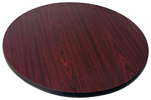 60 Round Tabletop (Johnson Rose 91217 Table Top, Reversible (Mahogany/Black), 60