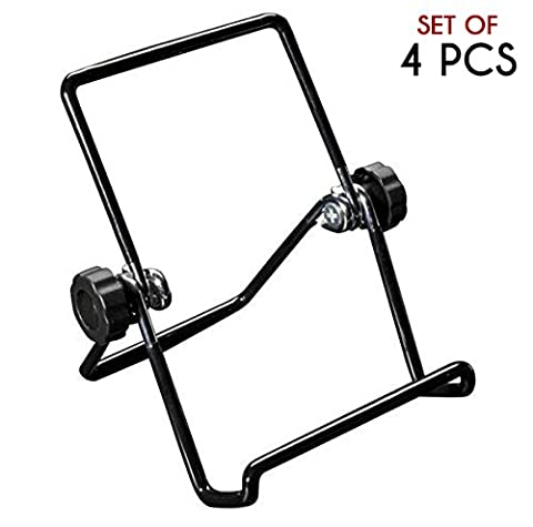 Easall | 4pcs Multi Purpose Small Portable Easel Stand Display, Heavy Duty Vinyl Coated Wire, Nonslip Nonscratch, Selectable Viewing Angles, Book Picture iPad Smartphone Kindle Art Collection - Vinyl Barbecue Cover