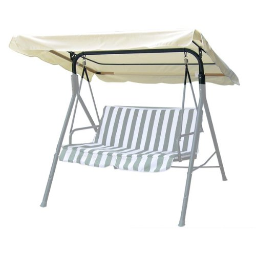 75''x52'' Ivory Swing Canopy Replacement Porch Top Cover Park Seat Furniture Patio by Generic
