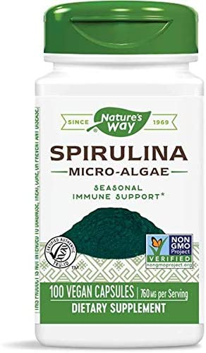 Nature s Way Spirulina, 100 Capsules Pack of 2