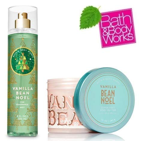 Bath and Body Works VANILLA BEAN NOEL Gift Set - Body Butter and Fine Fragrance Mist Full Size