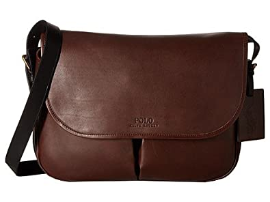 7b5b928094a (ポロラルフローレン) Polo Ralph Lauren メッセンジャーバッグ Core Leather Messenger Mahogany  Black