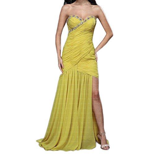 Abend Festamo Kleid Design Gr In Maxi Ital bei Damen 34 Gelb Für 4xqxSBd7