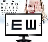 Huanyu 18.5'' (47CM) LCD Optical Digital Visual Acuity Chart 18.5-inch Eye Charts Inteligent Vision Chart Optometry Tester Projector AC100-240V