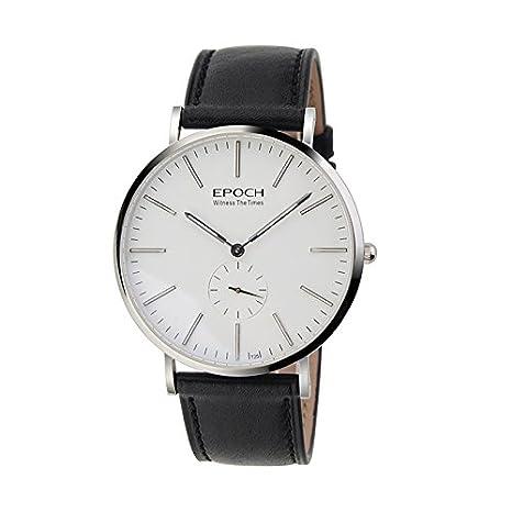 Amazon.com: EPOCH 6025G waterproof 50m tritium blue luminous ultrathin case business men quartz watch wristwatch: Watches