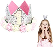 VCOSTORE Baby Princess Tiara Crown,Birthday Party Hat Sparkle Flower Style for Kids Baby Girls
