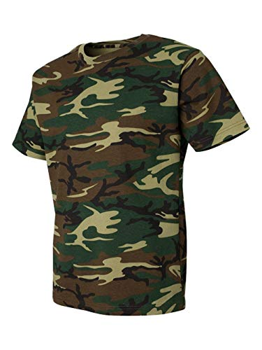 Code V Adult Camouflage T-Shirt (GREEN WOODLAND) (XL)