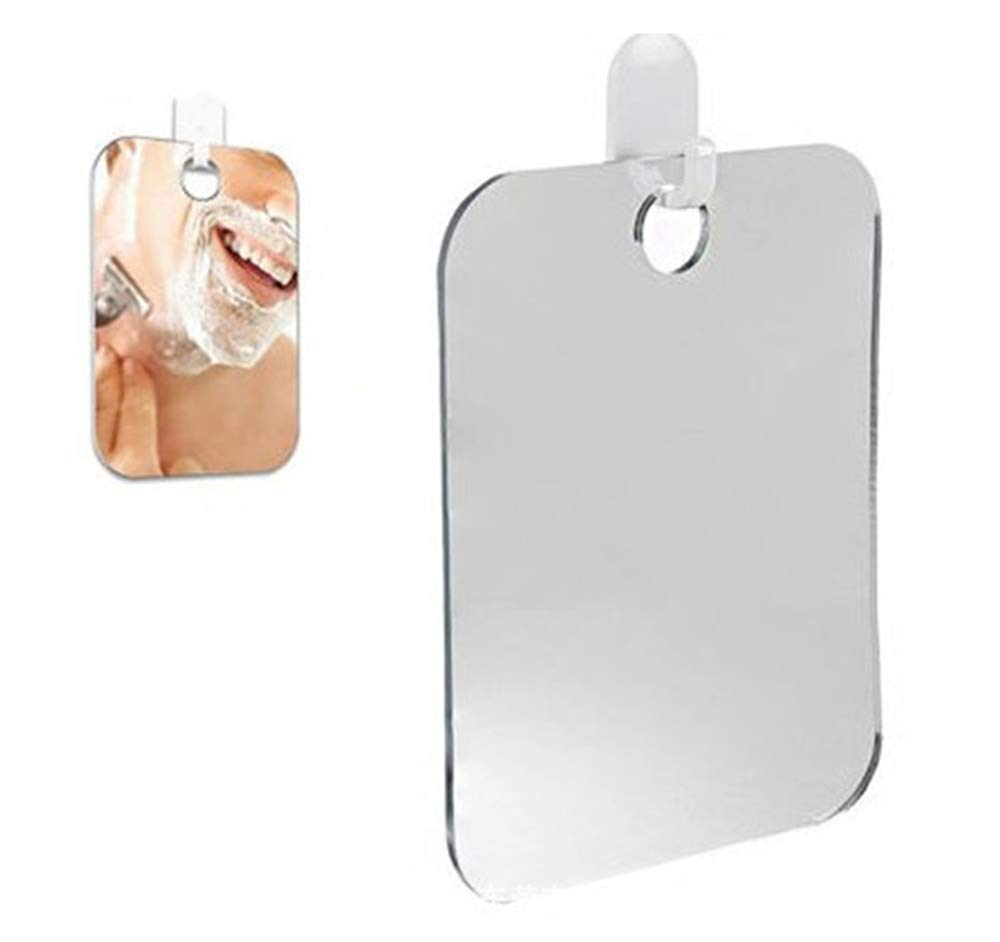Fogless Shower Mirror, Portable Travel Shaving Mirror Plastic Mirror Gentlecarin