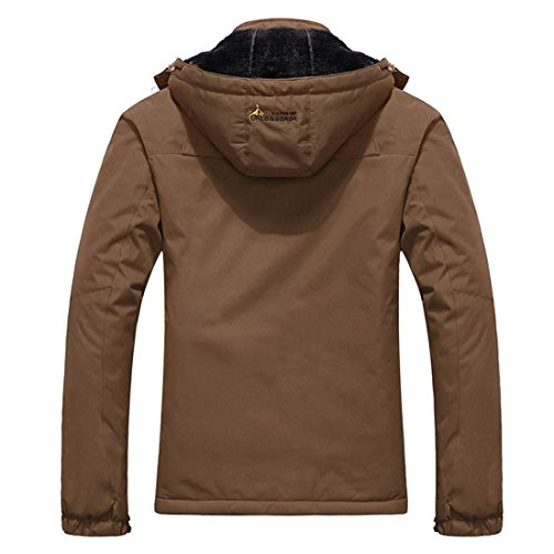 with Mountain Coffee Skiing Jackets Hood Waterproof Mens Parkas Windproof MAGCOMSEN Winter Thermal 7HRzzq