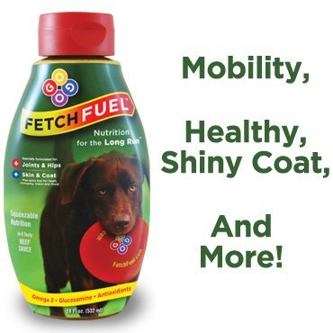FetchFuel - Squeezable Joint & Coat Supplement for Dogs - Includes Glucosamine, Vitamin C, Vitamin E, Omega-3 and Omega-6 For Dog Joint, Hip, & Coat Health. (Glucosamine Regenasure)