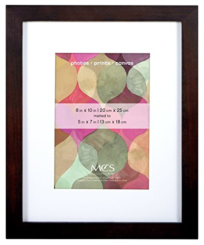 MCS 8x10 Inch Art Frame with 5x7 Inch Mat Opening, Walnut (47584)
