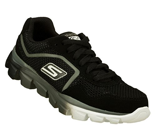 Skechers Kids 95672L Go Run Ride - Supreme Athletic Running Shoe (Little Kid),Black/Charcoal,13 M US Little Kid