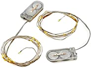 Radiance LED String Lights, 6 ft, Silver Wire, Warm White, Battery Powered (2 Pack)