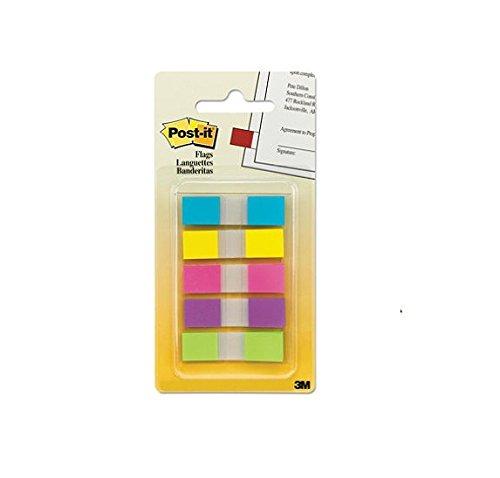 Post it Flags in PortableDispenser 5 Bright Colors 5 Dispens