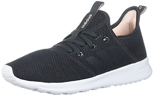 adidas Women's Cloudfoam Pure Running Shoe, Raw Grey Tech Ink Core Black, 6.5 us