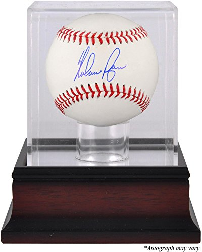 - Nolan Ryan Texas Rangers Autographed Baseball and Mahogany Baseball Display Case - Fanatics Authentic Certified