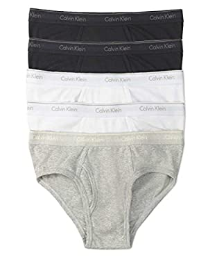 Calvin Klein Men's Classic Fit Cotton Briefs - 5 Pack