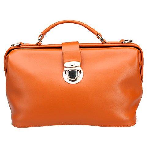 Plusminus Women's Vintage Doctor Handbags Orange, Bags Central
