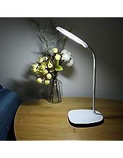 Eastbuy Skrivbordslampa – LED flexibel bordslampa med USB-laddning-surfplatta sängsida touch-omkopplare dimbar läsning studera ljus (vit)