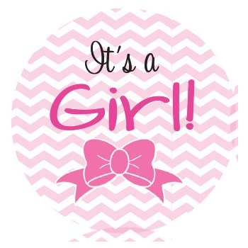 amazon com it s a girl stickers 63 1 stickers in pink paper