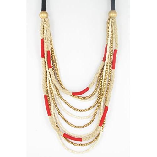 Fanny Fouks collier long à corde rouge