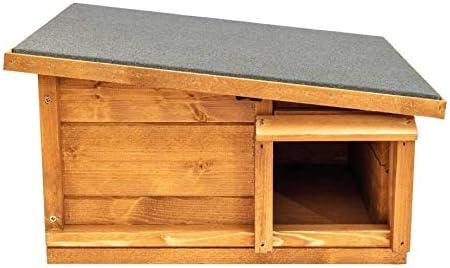 garden mile Hedgehog House /& Hibernation Shelter Durable Wooden Predator Proof Outdoor Habitat Feeding Station and Home Felt Roof Cover Full Wood Flooring Garden Hedgehogs Wildlife Outdoor Habitat