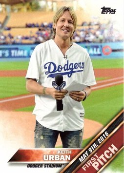 Amazoncom 2016 Topps Update First Pitch Fp 5 Keith Urban