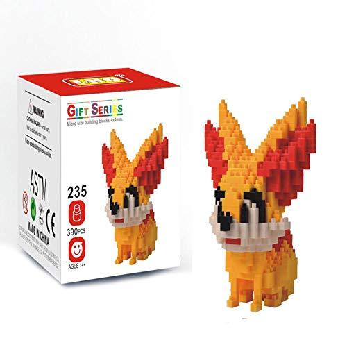 MAGIC-F Nano Blocks Action Figures Kawaii 3D Pikachu Japan Anime Cartoon Plastic Building Bricks Game DIY Model Educational Toys.