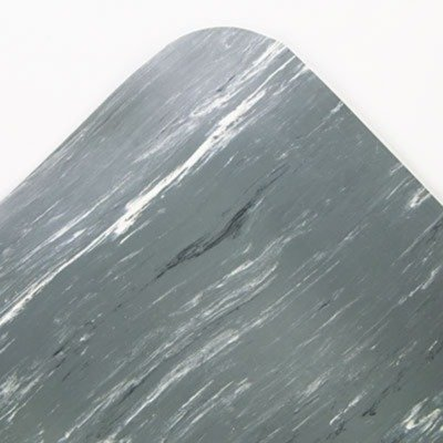 Crown CU3672GY Cushion-Step Surface Mat 36 x 72 Marbleized Rubber Gray, 36 x 72, Gray