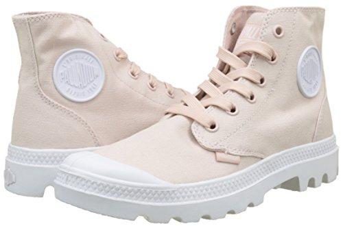Rosa Hi Mujer Zapatillas Palladium peach Whip Pampa K74 Blanc Para Altas fpn0qg