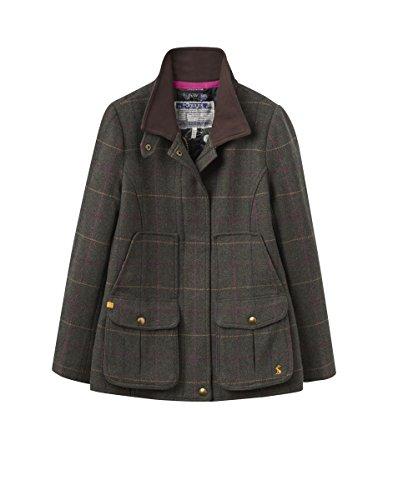 Joules Fieldcoat, Abrigo para Mujer Green (Heather Check)