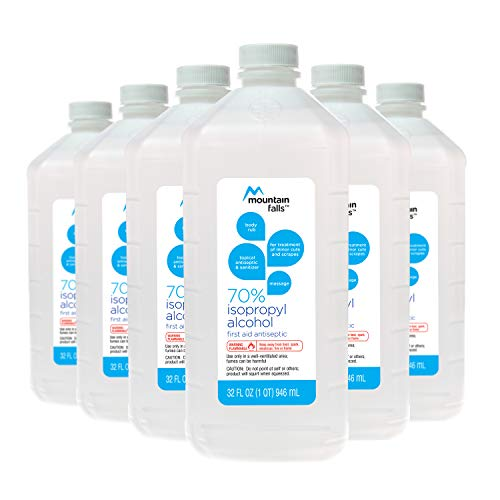 Mountain Falls 70% Isopropyl Alcohol First Aid Antiseptic for Treatment of Minor Cuts and Scrapes, 32 Fluid Ounce (Pack of ()