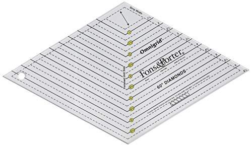 Fons & Porter 60 Degree Diamonds Ruler