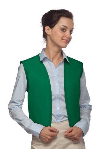 Hickory Ridge 740NP No Pocket Unisex Uniform Vest, Kelly ...