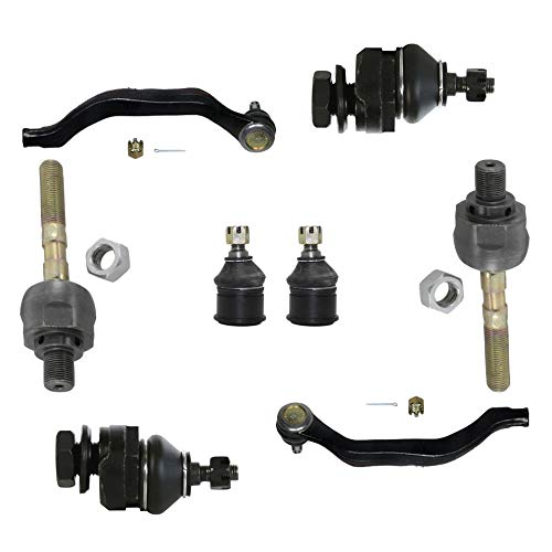 (Detroit Axle - 8PC Front Inner Outer Steering Tie Rod Ends and Upper Lower Ball Joints for 1991 1992 1993 1994 1995 Acura Legend)