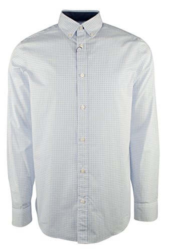 Michael Kors Men's Long Sleeve Diamond Pattern Tailored Fit - Michael Kors Diamond
